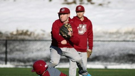 Baseball practice on Garber Field Feb. 17. Jessica Picard/Daily Collegian)