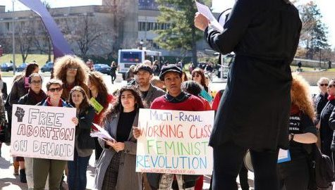 UMass groups march together for International Women's Day