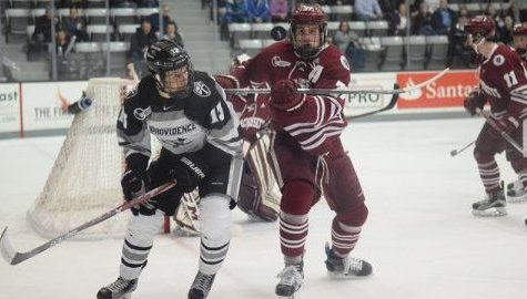 Providence College overpowers UMass hockey in Hockey East playoff opener