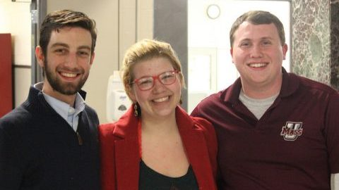 Anthony Vitale, Lily Wallace and Derek Dunlea were elected for SGA positions on March 9th. (Jackson Cote/Daily Collegian)