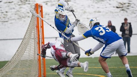Men's lacrosse defeated Delaware 9-6 at Garber Field on Saturday, April 1, 2017. (Judith Gibson-Okunieff/Daily Collegian)