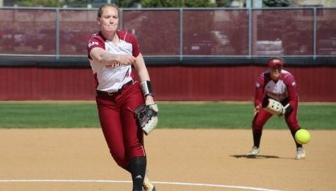 Softball sweeps Saint Joseph's to take over first place in the Atlantic 10