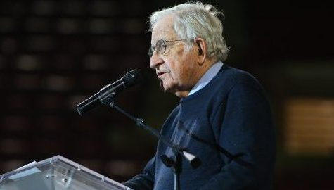 Chomsky portrays a bleak future for the environment and diplomacy