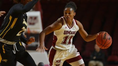 Hampton-Bey and UMass women's basketball look to get back to .500 record Wednesday at Davidson.