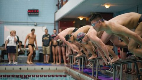 UMass men's and women's swimming and diving earns second place finishes at Dartmouth Invitational