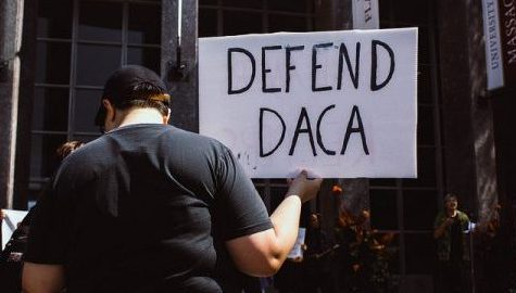 Hampshire College alum Eduardo Samaniego urges Democrats and Pioneer Valley activists to continue the fight for DACA