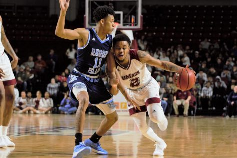 UMass men's basketball comes up short in fight with No. 22 URI