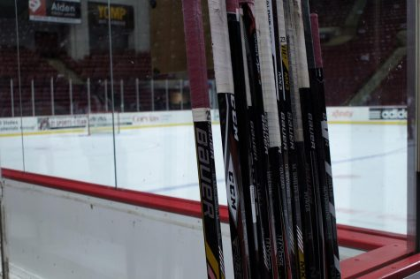 Minutemen club win pair on ice against Northeastern, Sacred Heart