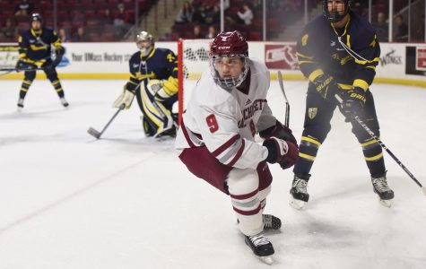 UMass hockey snaps six game losing streak with 5-2 victory over Merrimack