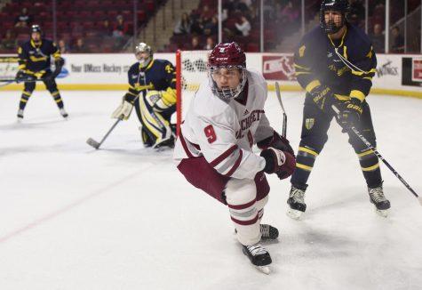 UMass hockey snaps six game losing streak with 5-2 victory over Merrimack