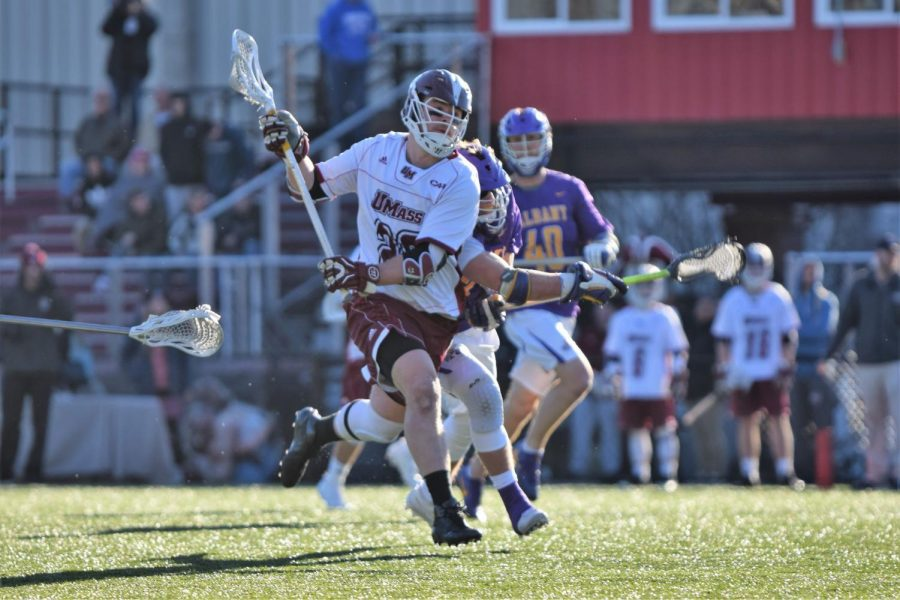 UMass+men%E2%80%99s+lacrosse+wins+second+straight%2C+topping+UMass+Lowell+13-6