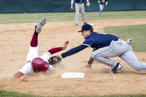 Mike Geannelis feels confident at the plate, looks to improve pitching for UMass baseball