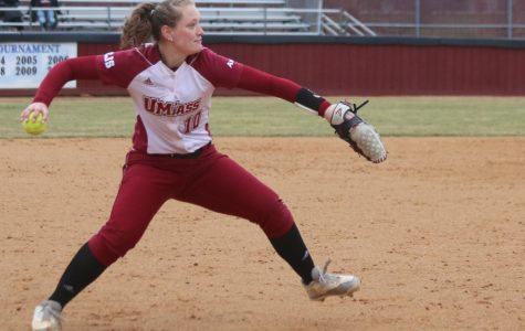 Colleran's escape act helps UMass softball salvage sweep over St. Joe's