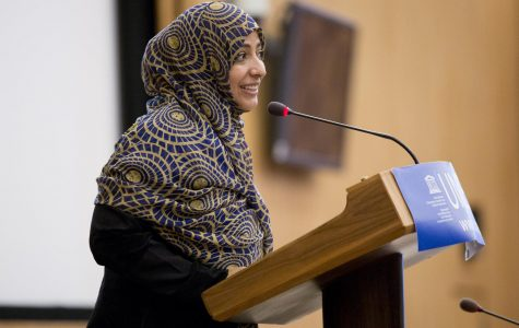 Nobel Peace Prize recipient spoke at UMass about the Arab Spring and Middle East violence