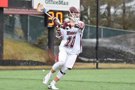 Angela McMahon earns 100th career win in UMass women's lacrosse's win over George Mason