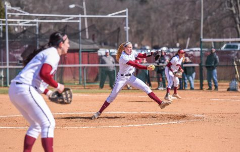UMass softball sweeps doubleheader against Saint Joseph's