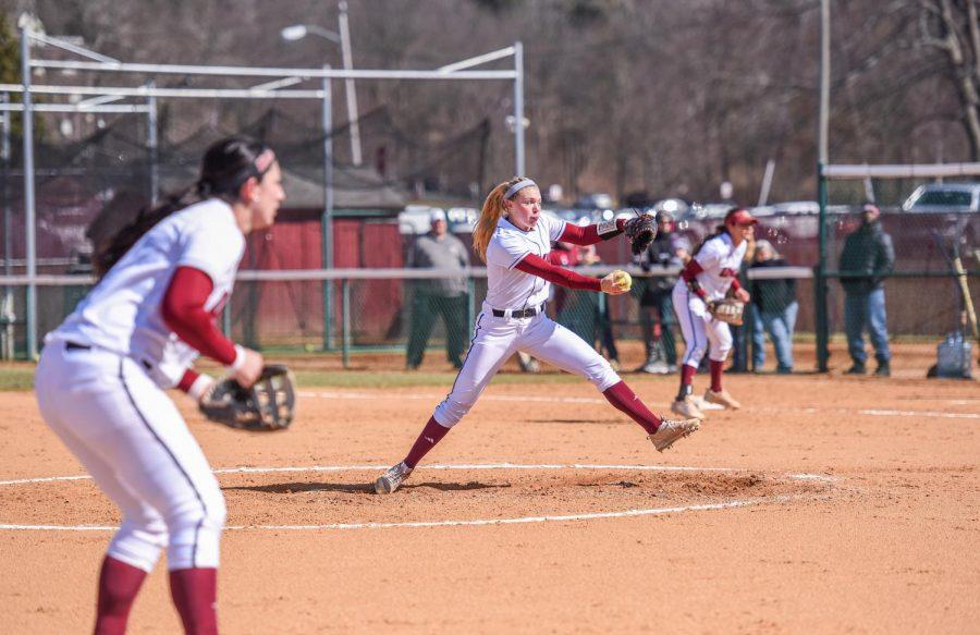 UMass softball sweeps doubleheader against Saint Joseph's