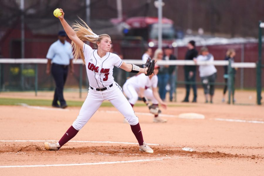 Pitching+dominance+propel+UMass+softball+over+Rhode+Island