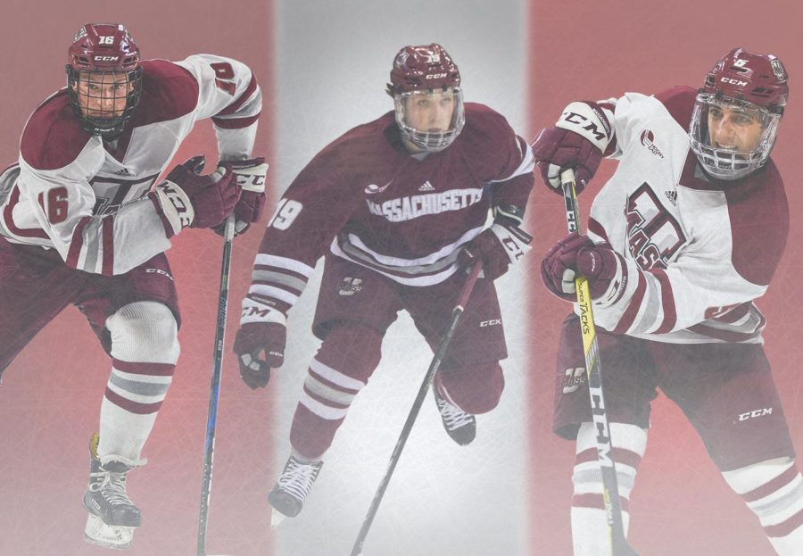 Hildenbrand, Ferraro and Makar newest UMass hockey captains