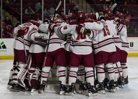 Inconsistency highlights tough season for UMass hockey