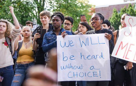 Hundreds of UMass students march to protest campus racism