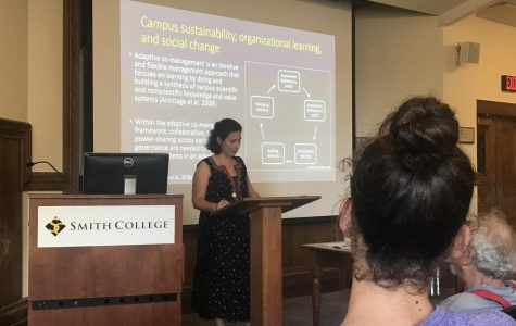 Smith College assistant professor discusses campus sustainability and social change on campuses and internationally