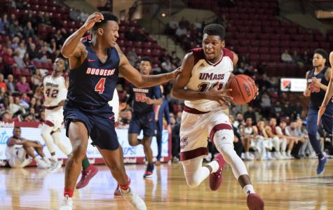 Backcourt competition heating up with UMass basketball three weeks from opener