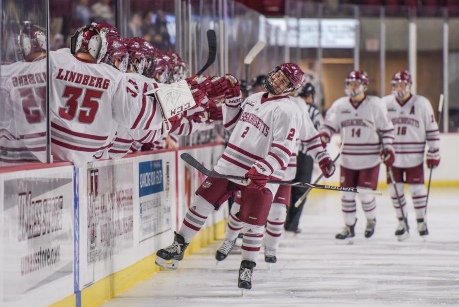 UMass hockey blows out Merrimack to open Hockey East play