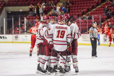 All three UMass captains record points in Saturday's exhibition win