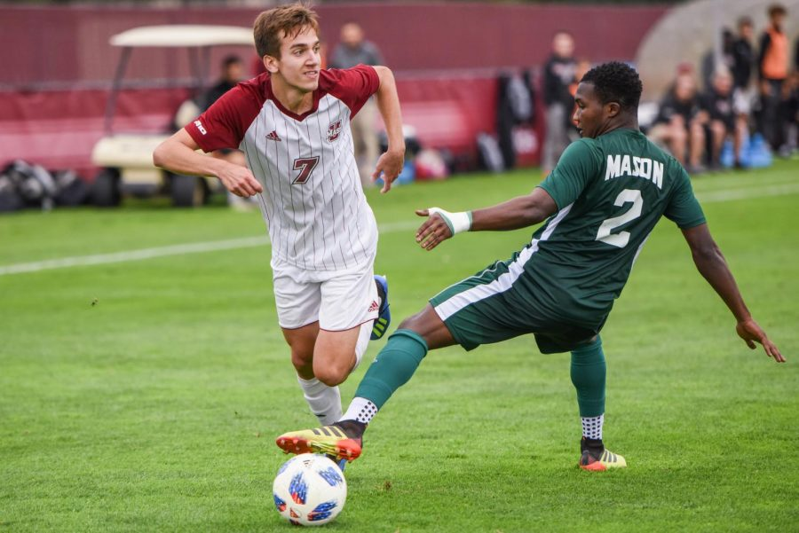 Offensive firepower gives UMass men's soccer first A-10 victory