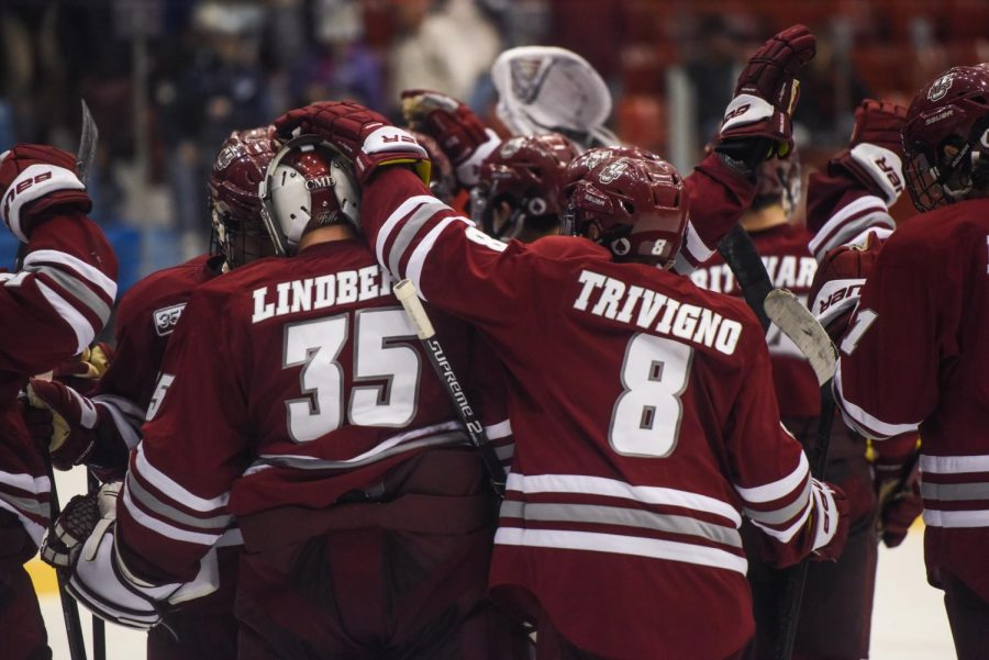 A year earlier than expected, Trivigno is finding ways to contribute on UMass' second line