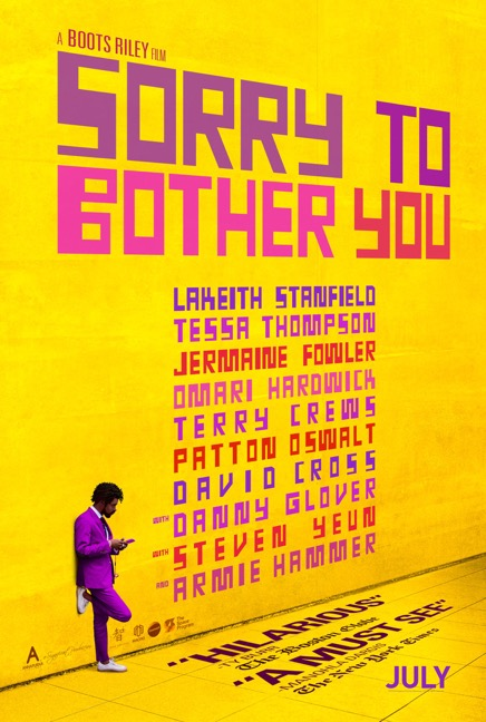 (Photo taken from the official Sorry to Bother You Facebook page.)