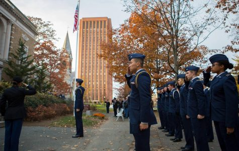 Jake Gramstorff represents UMass veterans with firsthand experience