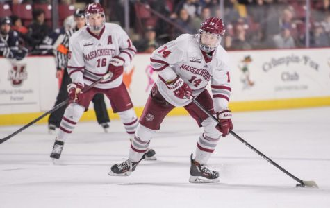 Jacob Pritchard's trio of points thrust No. 4 UMass past New Hampshire