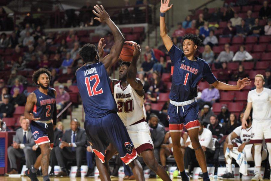UMass men's basketball turns in lackadaisical performance against Howard