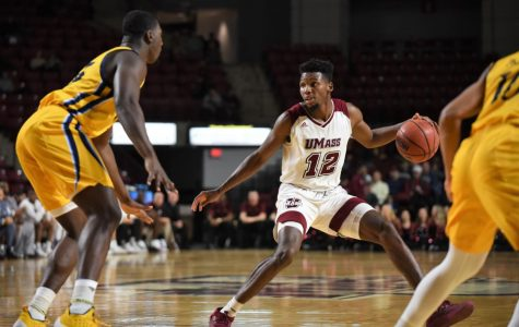 Carl Pierre hit two second-half threes to propel the Minutemen to victory.