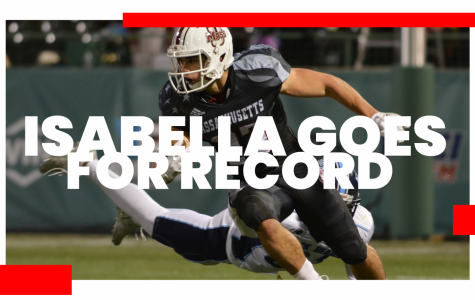 Andy Isabella 15 yards away from breaking UMass' single-season receiving record