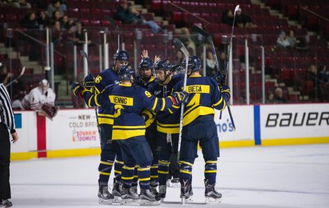 Hockey East notebook: Northeastern blows out Merrimack