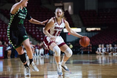UMass basketball gets fourth consecutive victory with 66-59 win against La Salle