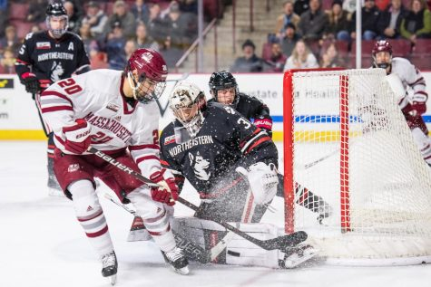 UMass defensemen register all four goals in 4-0 victory over Merrimack