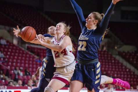 Nicole Jones leading UMass at both ends of the court