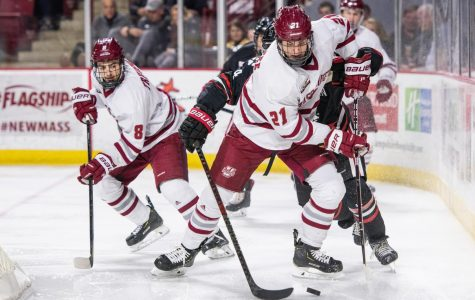 Mitchell Chaffee just keeps on chugging for UMass hockey