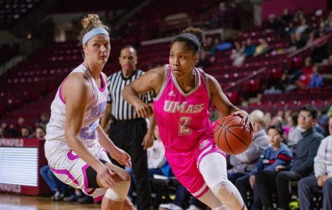 UMass celebrates breast cancer awareness in victory over Rhode Island