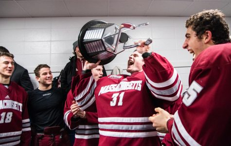 Milestones will No. 2 UMass to Hockey East regular-season championship