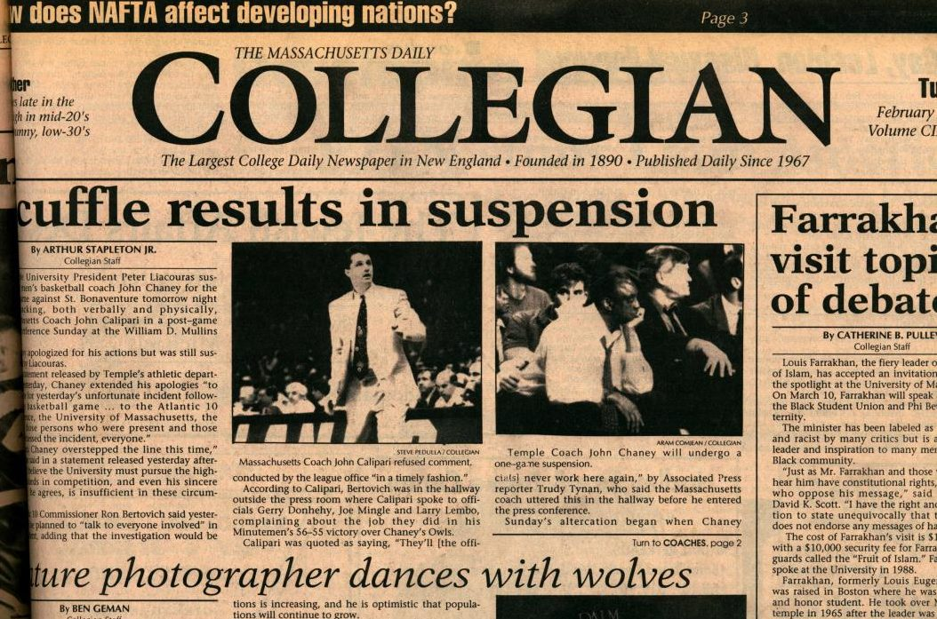 Massachusetts Daily Collegian | 'I'll Kill You!' An oral history of