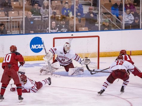 Lindberg blanks Harvard, No. 4 UMass advances in NCAA Tournament