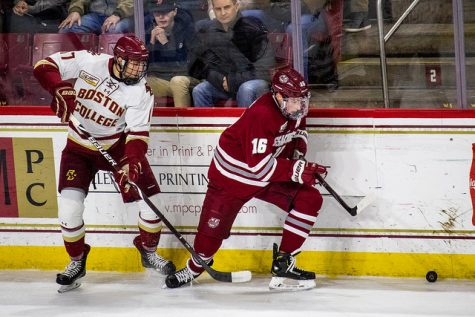 UMass wins battle of ranked teams, rivals in Cambridge