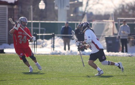 Men's lacrosse falls just short of upsetting No. 4 Yale