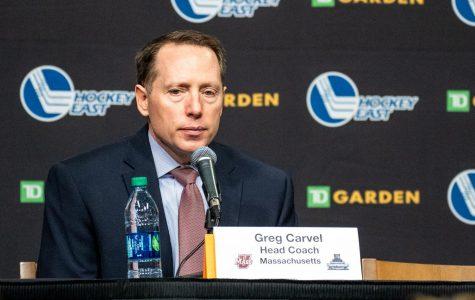 GALLERY: Hockey loses in Hockey East Semi-Finals