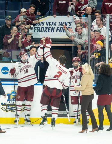 UMass hockey downs Denver in OT, advances to national championship game